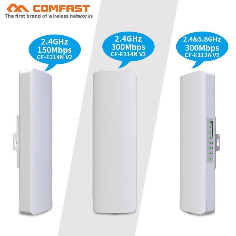 1-5 km portée 2.4G & 5 Ghz pont sans fil extérieur CPE 150 ~ 300 Mbps Point d'accès WIFI antenne wifi répéteur d'extension WIFI Nanostation