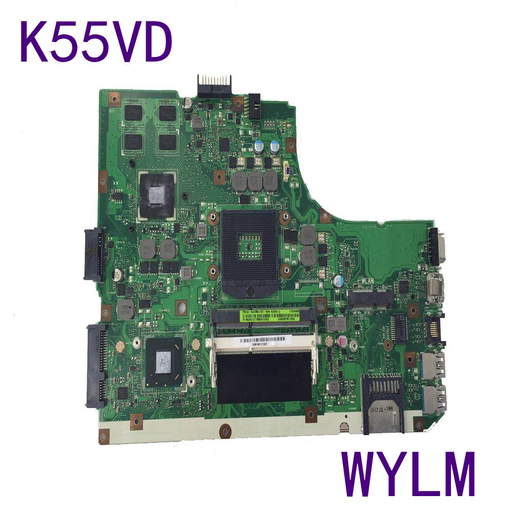 K55VD Motherboard For ASUS Laptop Mainrboard 60-N89MB1301-A05 REV.3.0 HM76 GT610M DDR3 full tested free shipping ytai k55vd rev 3 1 mianboard for asus k55vd k55a laptop motherboard hm76 integrated graphic card 2 ddr3 usb3 0 mainboard