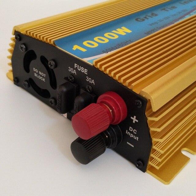 Солнечный инвертор Grid-Tie, 1000 Вт, функция MPPT, чистая Синусоидальная волна, постоянный ток 10,8-30 в или 22-45VDC, вход на сетку, микро инвертор