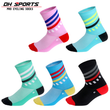 DH SPORTS New Professional Brand Cycling Socks Men Women Outdoor Breathable Bike Sports Running Riding Compression