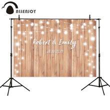 Allenjoy photophone backdrop photographic studio vintage wood wedding glitter halo custom background photobooth photocall shoot