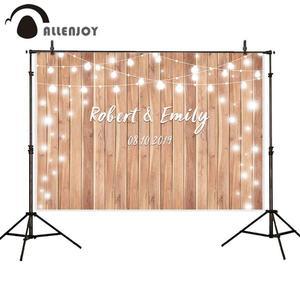 Image 1 - Allenjoy photophone backdrop photographic studio vintage wood wedding glitter halo custom background photobooth photocall shoot