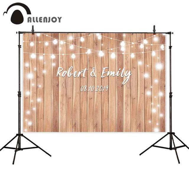 Allenjoy photophone pano de fundo fotográfico estúdio vintage madeira casamento glitter halo fundo personalizado photobooth photocall shoot