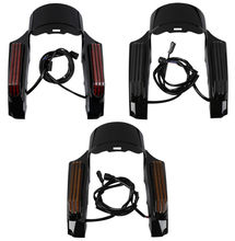 Motorcycle LED Light Rear Fender Fascia Set For Harley Touring Road King ELectra Street Glide Ultra Classic Limited 2014-2018 motorcycle front fender trim skirt for harley touring electra glide ultra classic low 2014 2015 2016 aluminum