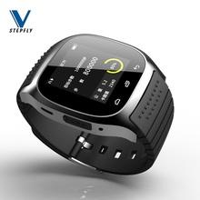 Stepfly Sport Bluetooth smart watch luksusowy zegarek M26 za pomocą pokrętła SMS przypomnij krokomierz dla IOS Android PK U8 tanie tanio Brak System operacyjny Android 128 MB Passometer Uśpienia tracker Kalkulatory Metrów wysokości 24 godzin instrukcji