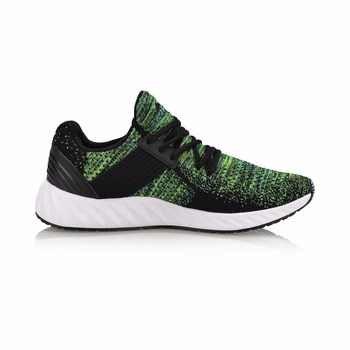Li-Ning Men GEL KNIT Walking Shoes Mono Yarn Breathable LiNing Sports Shoes Wearable Anti-Slippery Sneakers AGLN041 SJFM18