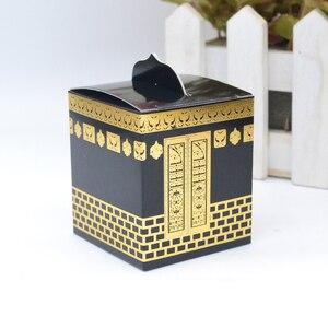Image 3 - Musselina festival caaba design morrer corte folha de ouro hajj caixa