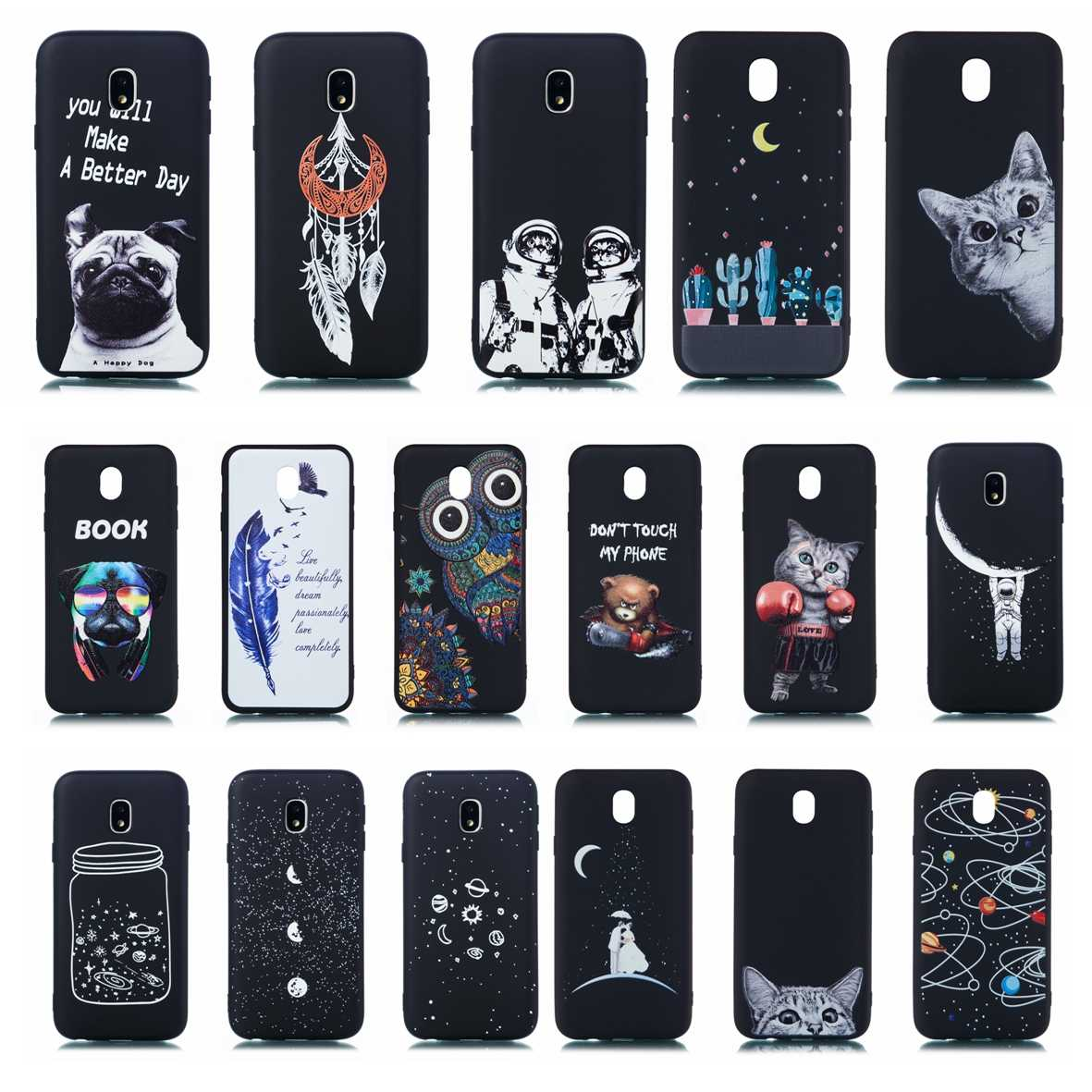 Case For Samsung Galaxy J330/J3 Pro Soft Silicone TPU Phone Cover For Samsung J3Pro/J330 J 330 Bumper Animal Printed Cases Funda