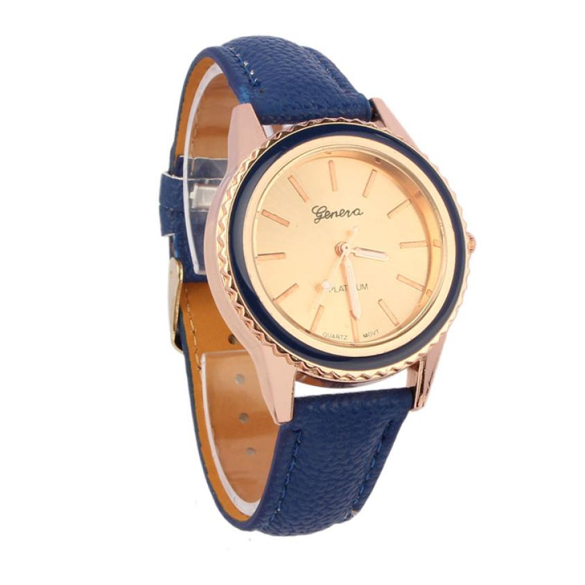 Relogio Feminino Dropshipping Gift Women Watches Reloj Mujer Vogue Women's Men's Unisex Faux Leather Analog Quartz Wrist  july28 lucky 2015 vogue reloj lucky12