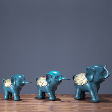 3pcs/set Nordic home decoration accessories resin Elephant figurines for decor wedding gifts crafts decoracao para casa