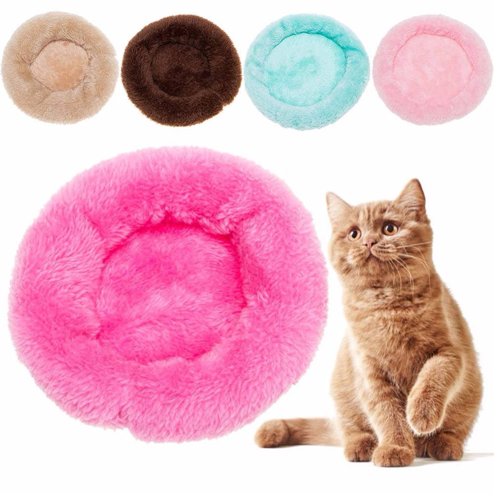 New Small Pet Nest Warm Cotton Bed Cold Winter Pets Keep Warm Solid Soft Breathable Pet Bed