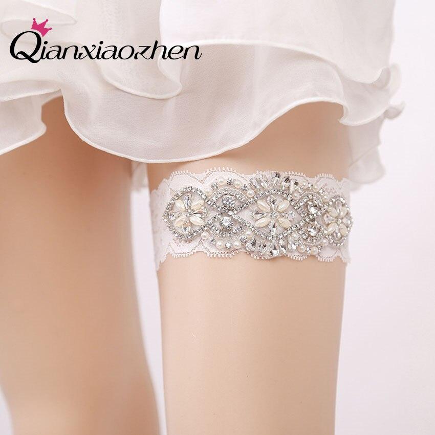 Where To Buy A Garter For Wedding: Aliexpress.com : Buy Qianxiaozhen Flower Lace Leg Wedding