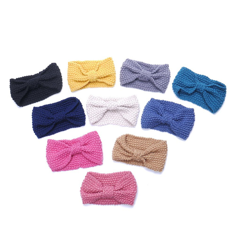 1 piezas mujeres señora Crochet arco nudo turbante de punto de ...