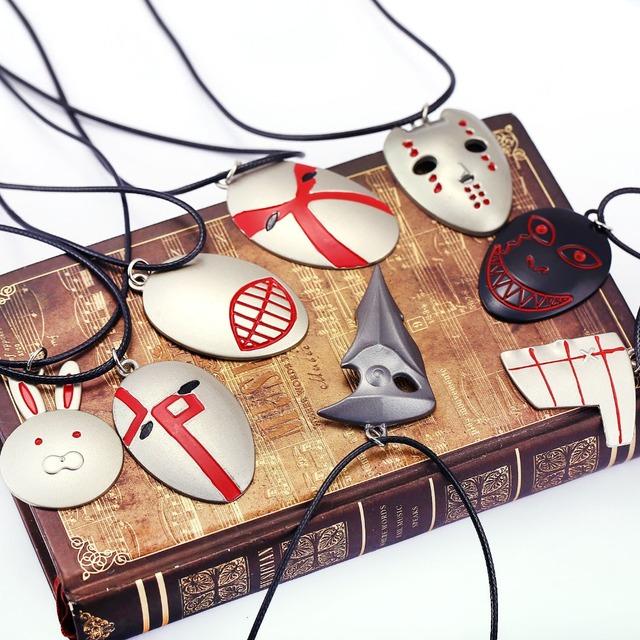Tokyo Ghoul Mask Necklace Skull  Cosplay Jewelry Ken Kaneki