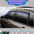 Автомобиля пластиковые Маркизы и Навесы Ветрового Окна Козырек Дождь/Вс Гвардии Vent вытяжки части панели 4 шт. для VW Golf7 Golf 7 2014 2015 2016