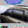 Car plastic Awnings & Shelters Window Wind Visor Rain/Sun Guard Vent hoods part panel 4pcs for VW Golf7 Golf 7 2014 2015 2016