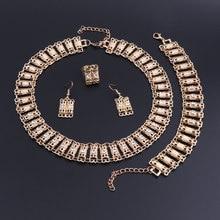 OEOEOS Jewelry Sets Turkish Indian Dubai Gold Color Bridal Nigerian African Beads Jewelry Set For Women Costume Jewellery wonderful orange bridal beads indian african costume jewelry set nigerian wedding necklace for women wdk 017