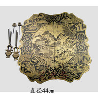 [Haotian vegetarian] copper door handle / furniture hardware accessories HTB 227 Ming and Qing antique furniture handle