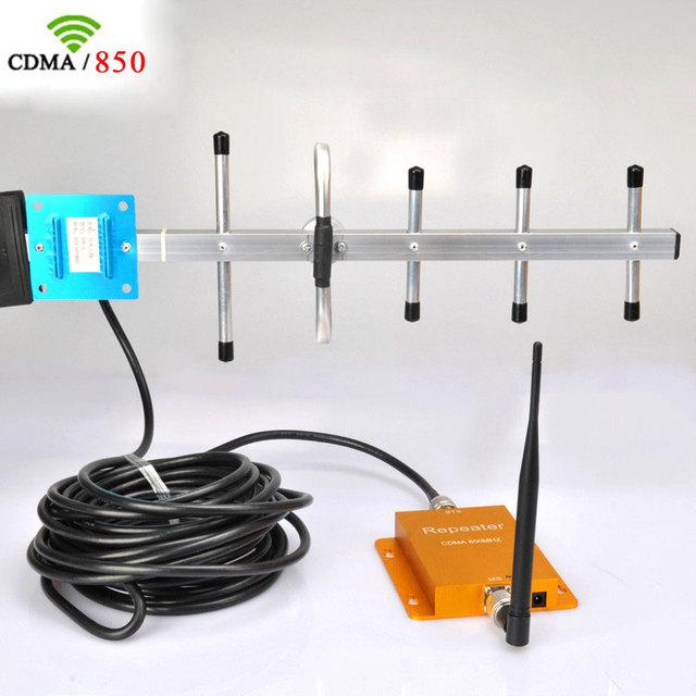 CDMA 850 Mhz teléfono Celular de Refuerzo Repetidor Móvil de la Señal GSM Repetidor Amplificador y 10 M Antena Yagi
