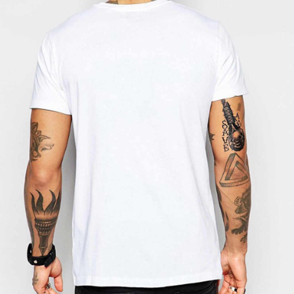 Verão moda masculina casual t camisa em torno do pescoço design criativo carta cor sólida impressão manga curta camiseta harajuku blusa # bl4