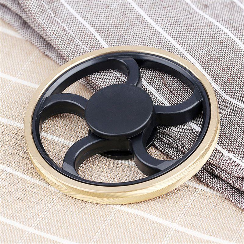 Hand Spinner Round Fidget Gyro Torqbar Brass EDC Focus ADHD Autism Finger Toy