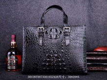 100% genuine alligator skin men business bag Big Discount Sales Promotion, crocodile leather skin briefcase men laptop bag