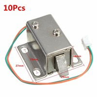 New Arrival Best Promotion 10Pcs Small 27x29x18mm 12VDC Cabinet Door Drawer Electric Lock Assembly Solenoid Lock