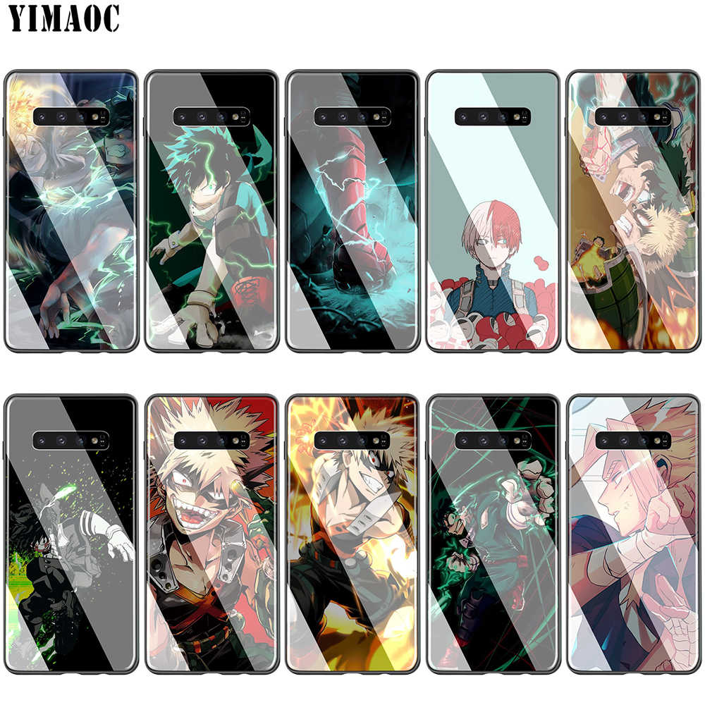 Lavaza Anime My Boku No Hero Glass TPU Case for Samsung Note 8 9 S7 S8 S9 S10 A10 A20 A30 A40 A50 A60 A70 Edge Plus