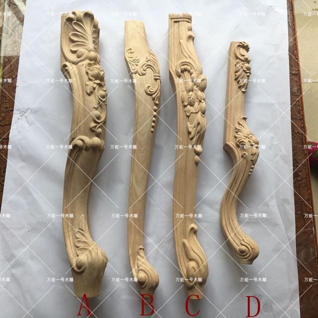 4 UNIDS talla de madera del gabinete pie pies patas de sofá mesa de ...
