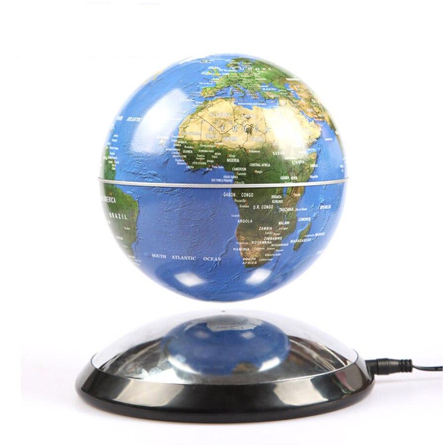 6 pouces créatif lévitation magnétique Globe flottant carte du monde le meilleur décor de bureau noël entreprise anniversaire cadeau-in Figurines et miniatures from Maison & Animalerie    2