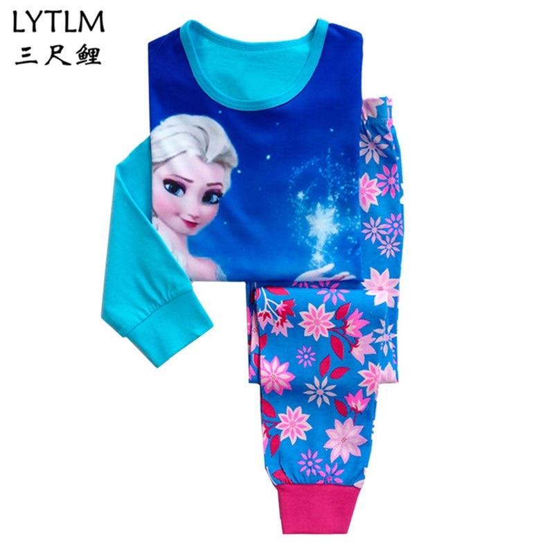 LYTLM Children   Pajamas     Set   Boys Cartoon Pyjamas Girls Long Sleeve Sleepwear   Sets   Children Nightwear Family Clothing   Set   for Kids