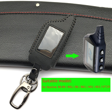 For Starline B9 B9 / B91 / B6 / B61 / A91 / A61 / V7 C9 LCD Shape Of 2017 Super Quality Remote Car Alarm Leather Key Case Cover