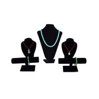 Professional Jewelry Display Black Velvet Set Jewelry Stand Holder Necklace Display Bust Bracelet T bar