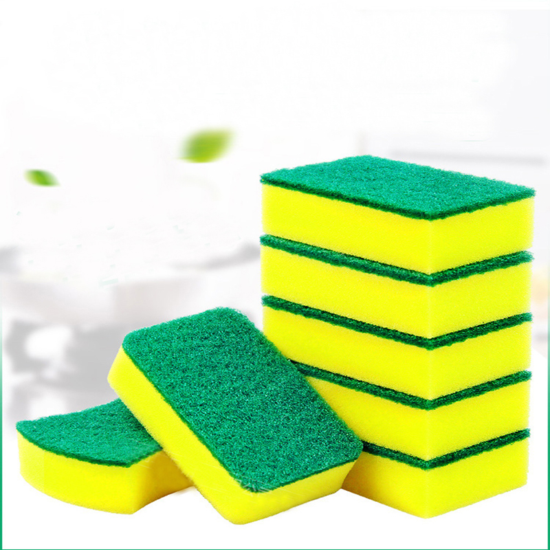Image 4 - 10Pcs High Density Sponge Kitchen Cleaning Tools Washing Towels Wiping Rags Sponge Scouring Pad Microfiber Dish Cleaning Cloth-in Sponges & Scouring Pads from Home & Garden