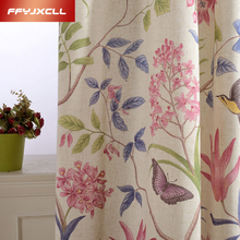 Fashion American Style Window Blakout Curtain for Living Room Bedroom Kitchen Treatments Cotton Linen Fabric Draperies