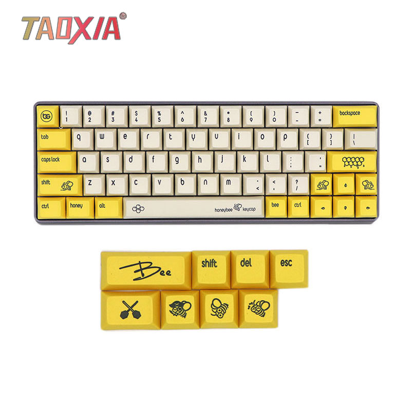 The New DSA Bee Type Sublimation Customized Mechanical Keyboard <font><b>Keycap</b></font> GH60/<font><b>64</b></font> With Keyboard PBT Key Caps image