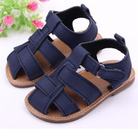 Navy Color Cute Sandals Toddler New Casual Baby Boys Sandals Toddler Scrub First Walkers Kid Shoes