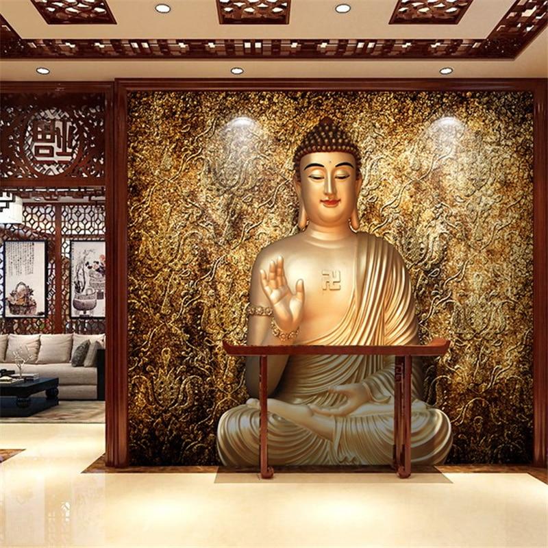 Beibehang papel de parede buddha sakyamuni wallpaper the for Buddha wall mural