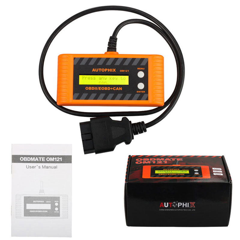 ФОТО Car OBD2  Auto Scanner Autophix OM121 EOBD obd 2 obd2 CAN Scan tool Code Engine Reader with LCD P2P Interface Diagnostic-tool