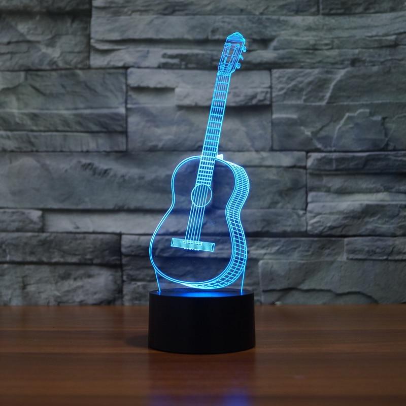 2018 USB Night Light 3D Vizual illüziya lampası Uşaqlar Yeni İl - Gecə işığı - Fotoqrafiya 2