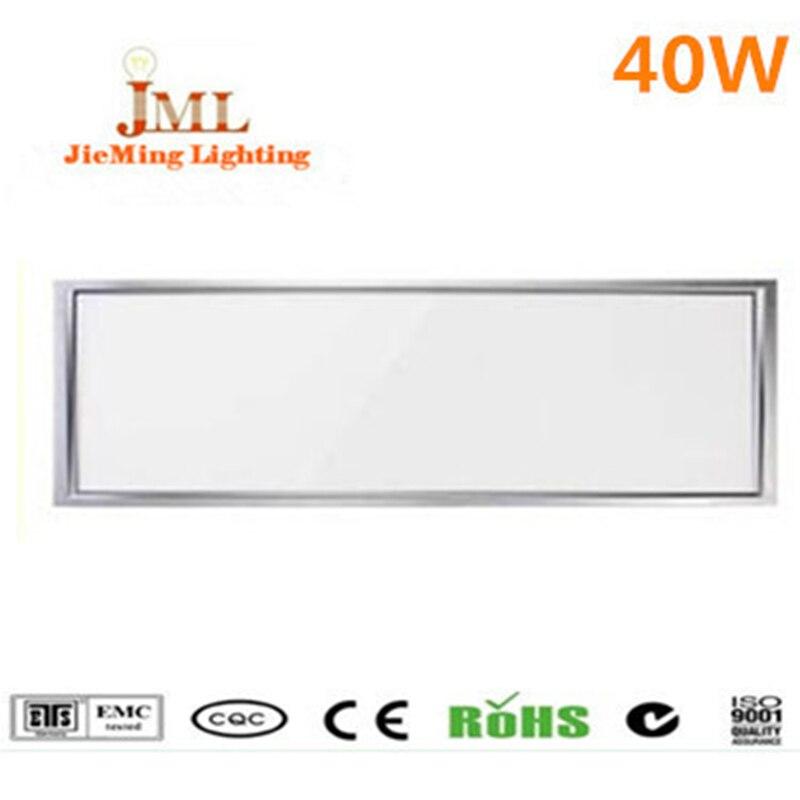 Factory sales wholesale LED panel light 1200*300mm 40W LED flat light white warm white LED downlight AC85 265V indoor lighting