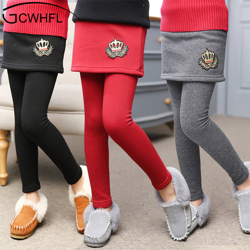 2018 New Winter Girl Legging Skirt Pant Baby Girl Winter Warm Thickening Leggings Children Girls Bootcut For 3-12 Kids Clothes 4t 14t children s clothing pants leggings warm three layers plus plush thickening cotton baby girl clothes winter children