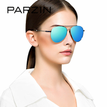 PARZIN Classic Aviator Polarized Sunglasses For Driving Fashion Hollow Legs Alloy Frame Mirror Coating Lens Pilot Glasses 2017