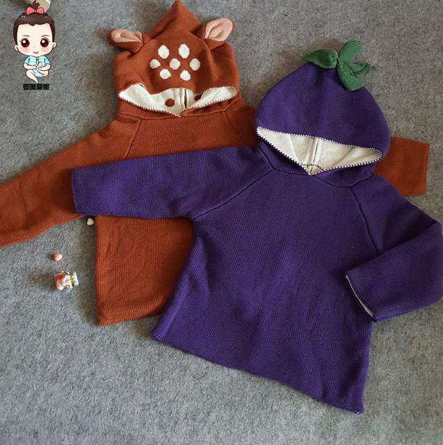 2016 outono inverno roupas de bebê menino menina roupa do bebê dos miúdos dos desenhos animados camisolas vetemant garcon enfant fille bebe vestidos crianças