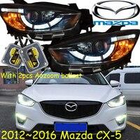 CX 5 headlight,2012~2016,,Free ship!Chrome, CX 5 fog light,2ps/set+2pcs Ballast,cx 5,CX 5,CX5