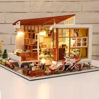Cutebee Casa Casa di Bambola Mobili In Miniatura Casa Delle Bambole In Miniatura FAI DA TE Casa in Camera Box Theatre Giocattoli per I Bambini Casa Delle Bambole S03B