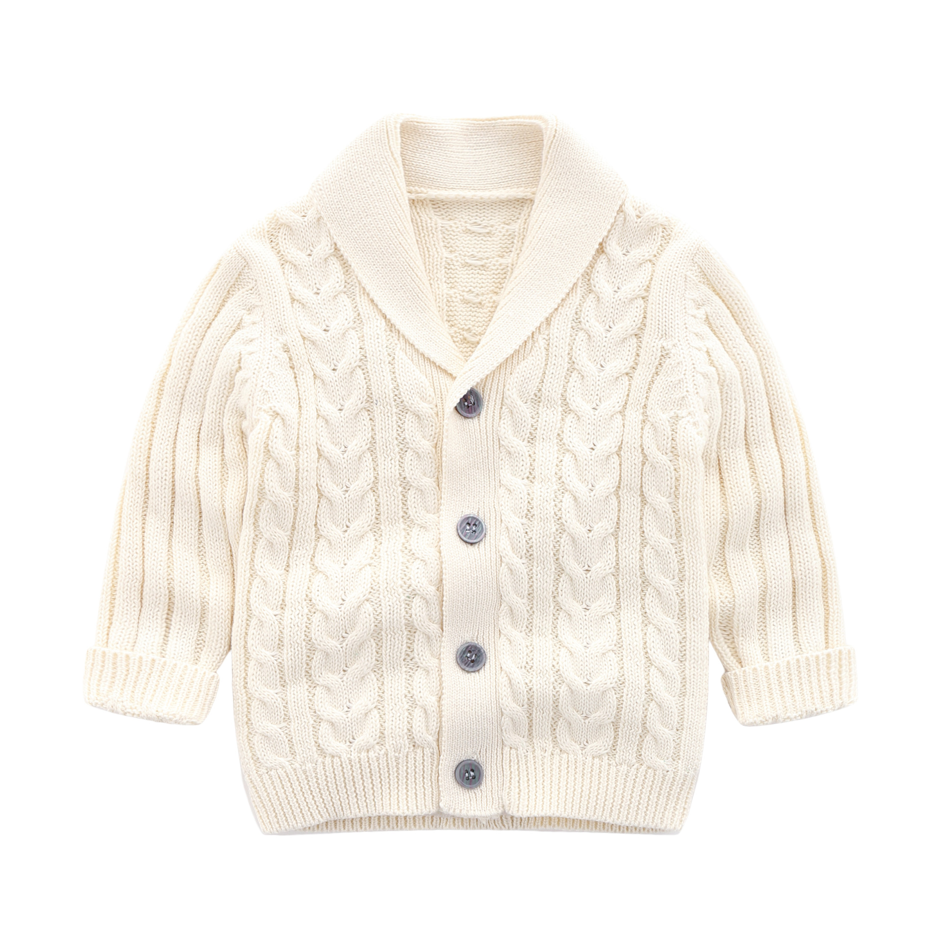 Baby Boy 39 s Spring Cardigan Cotton Knitted Sweaters Children 39 s Ribbed Twisted Knitted Jacket Clothing Coat for Kids Baby Boys in Sweaters from Mother amp Kids