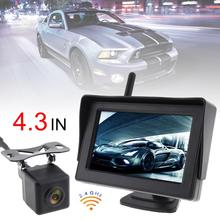 4.3 inch TFT LCD screen Car monitor Wireless HD Rearview Monitor Auto Parking System Built-in Antenna with Camera for Cars liislee for hyundai avante elantra hd 2006 2010 4 3 lcd monitor car rearview back up camera 2 in 1 car parking system