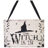 Crafts Halloween Witch Hat Wooden Ghost Festival Carnival Night Decorative Hanging Plate