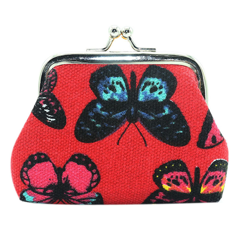 Hot Wallet Womens Butterfly Small Wallet Card Holder Coin Purse Clutch Bag drop shipping 0807 sif womens small sequin wallet card holder coin purse clutch handbag bag agu 16